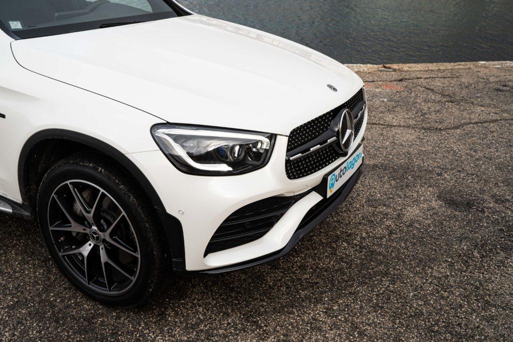 Capot de la Mercedes GLE hybrid