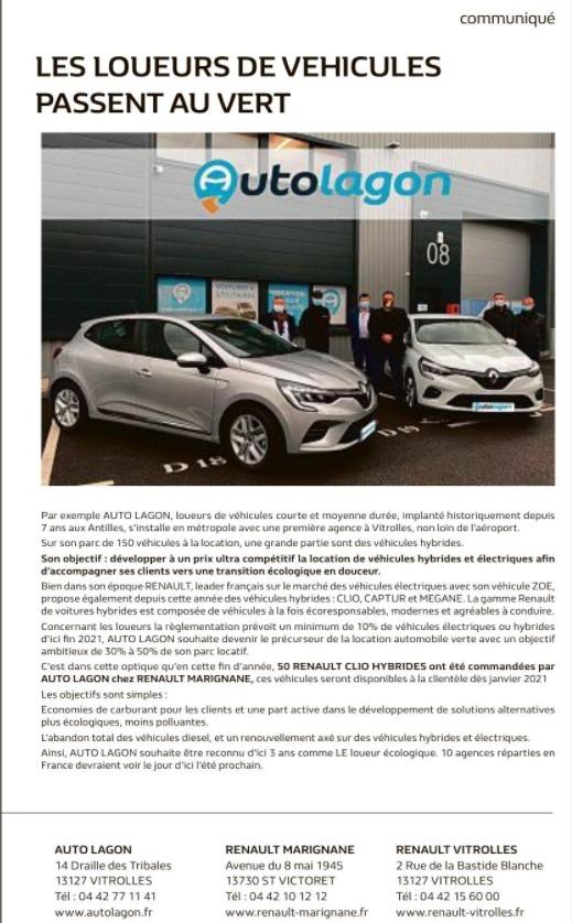 Louer une voiture hybride à Marseille Provence