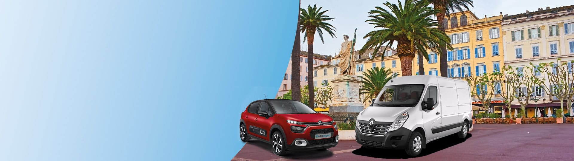 Book your car at the best price in Bastia