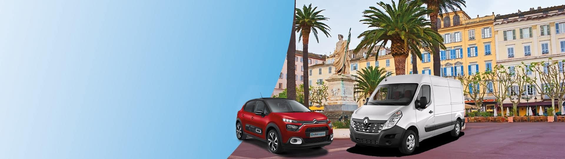 Réservez votre voiture de location au meilleur prix à Bastia